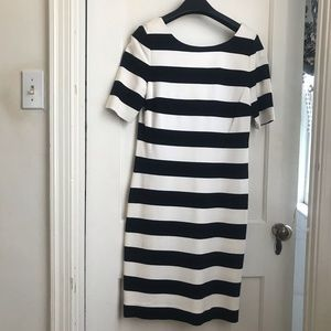 Banana Republic Black and White Striped Dress